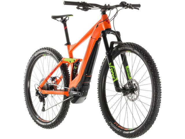 Cube Stereo Hybrid 120 Race 500 E-MTB fullsuspension orange (2019) | City-cykler